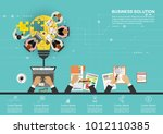 business concept for business... | Shutterstock .eps vector #1012110385
