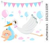 vector illustration of a stork...   Shutterstock .eps vector #1012111039