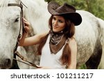 Beautiful Cowgirl. Shot In The...