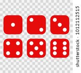 dice on a white background.... | Shutterstock .eps vector #1012112515