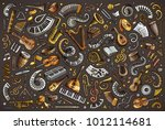 colorful vector hand drawn... | Shutterstock .eps vector #1012114681