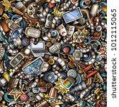 cartoon cute doodles cinema... | Shutterstock .eps vector #1012115065