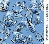 vector illustration of seamless ... | Shutterstock .eps vector #1012115839