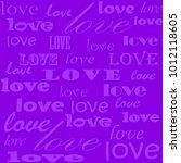 lettering design. love pattern... | Shutterstock .eps vector #1012118605