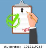 pay for electricity.household... | Shutterstock .eps vector #1012119265