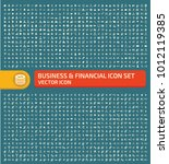 business and financial icon set ... | Shutterstock .eps vector #1012119385