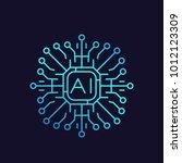 artificial intelligence  ai... | Shutterstock .eps vector #1012123309
