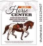 vector template for horse... | Shutterstock .eps vector #1012124407