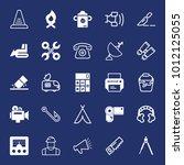 equipment filled and outline... | Shutterstock .eps vector #1012125055
