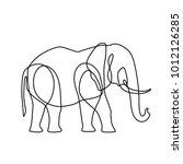 endless line art illustration...   Shutterstock .eps vector #1012126285
