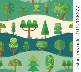 forest elements   trees and fir ... | Shutterstock .eps vector #1012128277