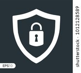 abstract security vector icon... | Shutterstock .eps vector #1012128589