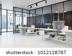 open space office interior with ...   Shutterstock . vector #1012128787
