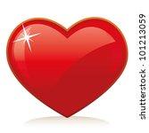 web icon   love heart. vector   Shutterstock .eps vector #101213059