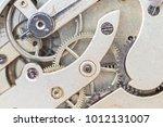detail of several clockworks... | Shutterstock . vector #1012131007