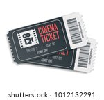 two cinema vector tickets... | Shutterstock .eps vector #1012132291