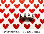 love lettering on the...   Shutterstock . vector #1012134061
