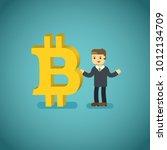bitcoin icon illustration... | Shutterstock .eps vector #1012134709