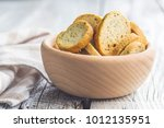crusty bread bruschetta in... | Shutterstock . vector #1012135951