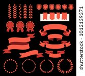 vector collection of decorative ... | Shutterstock .eps vector #1012139371