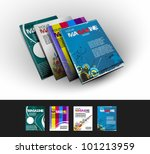 four magazine cover layout... | Shutterstock .eps vector #101213959