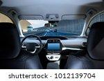 cockpit of driverless car... | Shutterstock . vector #1012139704