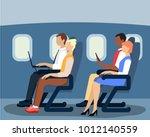 vector illustration of airline... | Shutterstock .eps vector #1012140559