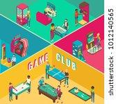 game club vector flat 3d... | Shutterstock .eps vector #1012140565