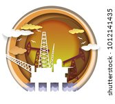 oil extraction concept vector... | Shutterstock .eps vector #1012141435