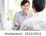 successful young business... | Shutterstock . vector #101214511
