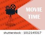 cinema background or banner.... | Shutterstock .eps vector #1012145317
