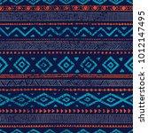 seamless ethnic ornament. aztec ... | Shutterstock .eps vector #1012147495