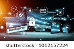 antivirus interface over modern ... | Shutterstock . vector #1012157224