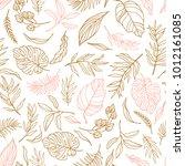 vector elegant seamless... | Shutterstock .eps vector #1012161085