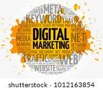 digital marketing word cloud... | Shutterstock .eps vector #1012163854