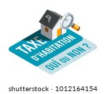 housing tax  yes or no   in... | Shutterstock .eps vector #1012164154