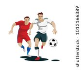 players are fighting for the... | Shutterstock .eps vector #1012166389