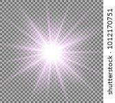 sunlight with lens flare effect ... | Shutterstock .eps vector #1012170751