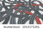 business concept with road... | Shutterstock .eps vector #1012171201