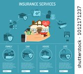 insurance services infographics ... | Shutterstock .eps vector #1012171237