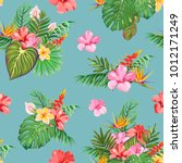 a seamless pattern with... | Shutterstock .eps vector #1012171249