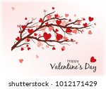happy valentine's day. red... | Shutterstock .eps vector #1012171429