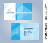 blue and white modern business... | Shutterstock .eps vector #1012173394
