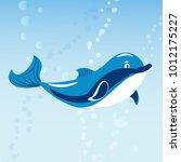 cute dolphins aquatic marine...   Shutterstock .eps vector #1012175227