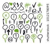 marker arrows  signs  symbols.... | Shutterstock . vector #1012178095