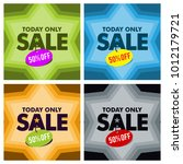 sale discount banner clearence... | Shutterstock .eps vector #1012179721