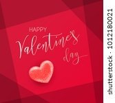 happy valentine's day lettering.... | Shutterstock .eps vector #1012180021