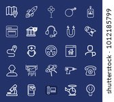 technology outline vector icon... | Shutterstock .eps vector #1012185799