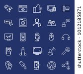 technology outline vector icon... | Shutterstock .eps vector #1012185871