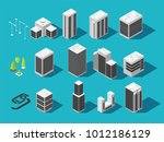 isometric city 3d building and... | Shutterstock .eps vector #1012186129